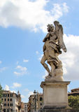 Beautiful view of Rome bridge of angels. Italy royalty free stock photos