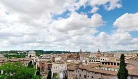 Beautiful view of Rome from the Campidoglio Royalty Free Stock Image