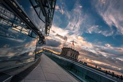 View from the top of the German Reichstag, parliament Royalty Free Stock Photos