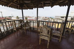 Beautiful view at roofs of Old Town from roof top restaurant, St Royalty Free Stock Photography