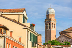 Beautiful view of roofs in Venice Stock Images
