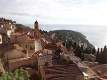 Roquebrune - french riviera. Beautiful view in Roquebrune, French riviera Royalty Free Stock Photo