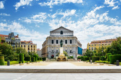 Beautiful view on the Royal Theatre (Teatro Real) Stock Image