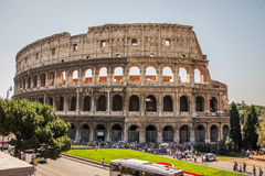 Beautiful view of the ruins of the Colosseum in Rome Royalty Free Stock Photo