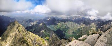 Beautiful view from Rysy to Tatras Stock Photography