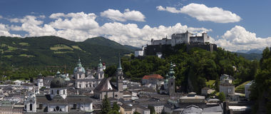 Beautiful view of Salzburg with Festung Hohensalzburg Royalty Free Stock Photography