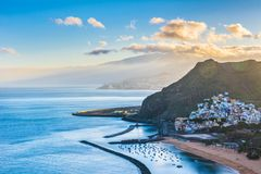 Beautiful view on San Andres near Santa Cruz de Tenerife in the royalty free stock photos