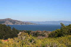 Beautiful View of the San Francisco Bay. Located in San Francisco California Royalty Free Stock Photography