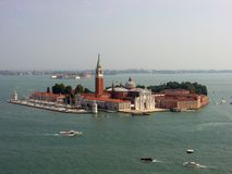 Beautiful view of San Giorgio Maggiore Cathedral royalty free stock photography