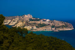 Beautiful view of San Nicola Island in the Gargano national park Royalty Free Stock Photography