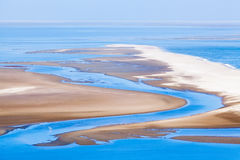 Beautiful view on Sandwich Harbour in Namibia Stock Images