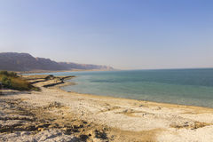 Beautiful view on the sandy Dead sea beach Stock Photography