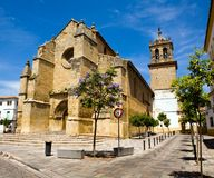 Beautiful view of Santa Marina church in Cordoba Royalty Free Stock Photos