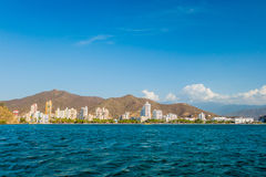 Beautiful view of Santa Marta, Colombia Royalty Free Stock Images