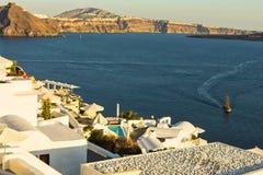 The beautiful view - Santorini - Greece Stock Images