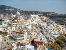 Beautiful view of Santorini island Stock Photography