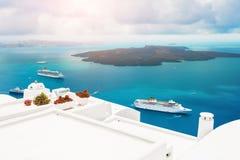 Beautiful view of Santorini island, Greece. Royalty Free Stock Images
