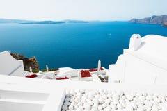 Beautiful view of Santorini island, Greece. Stock Photos