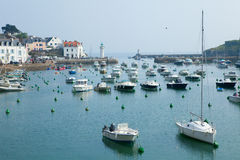 Beautiful view of Sauzon, Belle-Ile-en-Mer Stock Photos