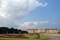 Schonbrunn palace Vien. Beautiful view of schonbrunn palace in vien Stock Images