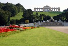 Schonbrunn palace Vien. Beautiful view of schonbrunn palace in vien Royalty Free Stock Photo