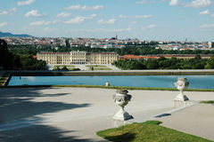 Beautiful view of  the Schonbrunn Palace in Vienna Royalty Free Stock Photography