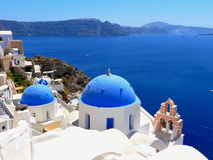Beautiful view of the sea and houses on Santorini island Stock Photography