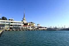 Beautiful view of the sea port Stock Images