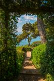 Beautiful view on sea. From the Santa Clotilde Gardens in Lloret de Mar, Spain Stock Photography