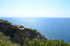 A Beautiful View of sea, summer holidays concept. A beautiful summer sea view from the cliff Royalty Free Stock Photos
