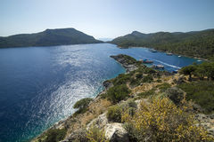 Beautiful view of the sea. Turkey St. Nicholas island royalty free stock photo