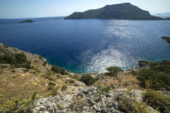 Beautiful view of the sea. Turkey St. Nicholas island stock photos