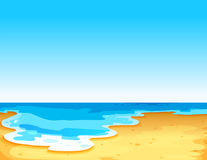 Beautiful view of the sea. Under the clear blue sky Royalty Free Stock Photo