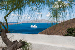 Beautiful view of the seacoast. Santorini island, Greece Royalty Free Stock Images