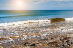 Beautiful view of the seacoast at sunset Royalty Free Stock Photography