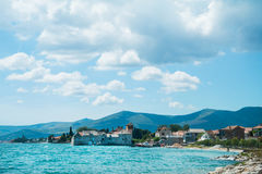 Beautiful view of a seashore. Royalty Free Stock Photography
