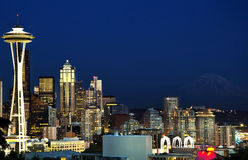 Beautiful view of seattle from kerry park Royalty Free Stock Photos