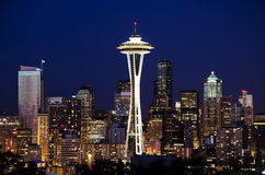 Beautiful view of seattle from kerry park Stock Image