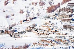 Beautiful view of Sestriere village from above Royalty Free Stock Images