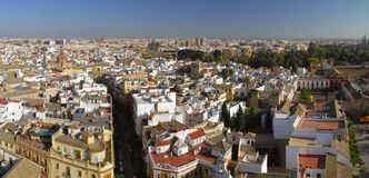 Beautiful   view of Seville. Beautiful aerial view of Seville Stock Photography