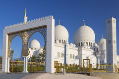 Beautiful view of Sheikh Zayed Grand Mosque Royalty Free Stock Photo