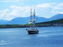 Beautiful view with a ship in Oban Stock Photos