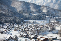 Beautiful view of Shirakawa go village Royalty Free Stock Photos