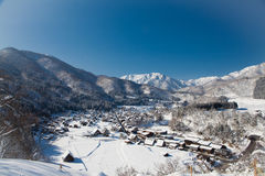 Beautiful view of Shirakawa go villgae Stock Image
