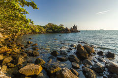 Beautiful view of the shore of a tropical island. Koh Chang. Royalty Free Stock Photography