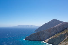 Beautiful view of the shoreline of Folegandros Stock Photography