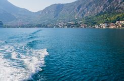 Beautiful view of the shores of Kotor Bay in Montenegro. September 22, 2018 stock photo