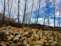 A Beautiful View Bricks and blue sky. royalty free stock photography