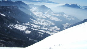 Beautiful view of sky mountain into french alpes Royalty Free Stock Images