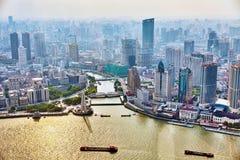 Beautiful view skyscrapers, Shanghai Stock Images